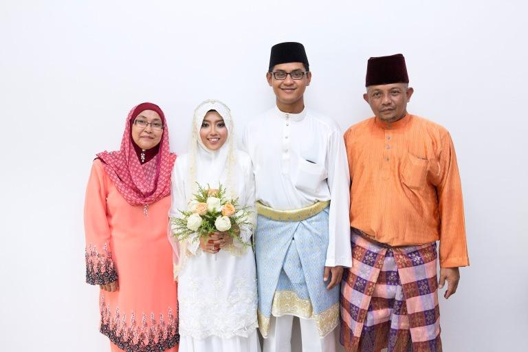 Majlis nikah masjid kg. sg. lang baru